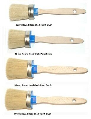 Chalk Paint Round Head Brushes 4 Sizes Chalky Paint Finishing Wax Vintage shabby