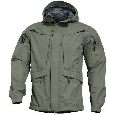 42538021b24 Pentagon Monsoon 2.0 Tactical Soft Shell Mens Waterproof Jacket Grindle  Green