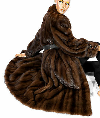 Nerzmantel Nerz Mantel Pelz Elegant Braun Brown mink fur coat soft stylish Vison