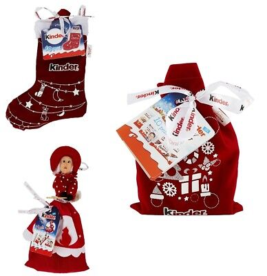 KIT BEFANA - Calza Befana KINDER HAPPY SNACK + Bambola Befana + Sacchetto