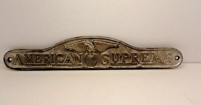FANTASTIC vintage Cast Iron  American Supreme wall or door sign eagle on globe
