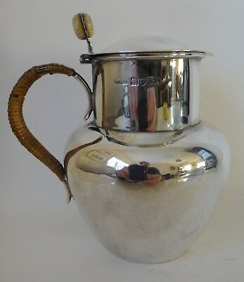 Solid silver JERSEY MILK CAN Lon 1907 by Henry Stratford 11.36 tr oz / 353.8g
