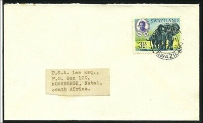 Swaziland 1971,  clear cds   ELZULWINI  on cover