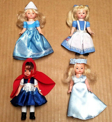 Lot of 4 Madame Alexander McDonald's Doll Figures Cinderella Little Red Fairy Al