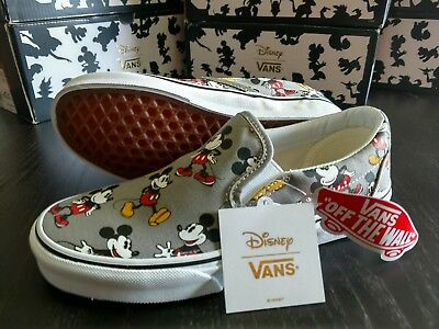NWT Vans Disney Mickey Mouse Adult Shoes- Classic Slip-On