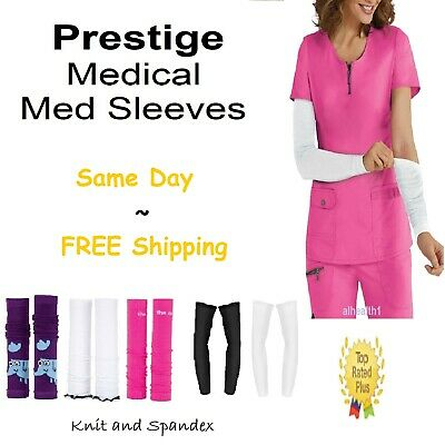 """Nurse Medical Med Sleeve Knitted Sleeves ~Free Shipping~~NEW~14 Colors 17""""Length"""
