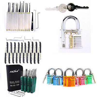 Padlock Locksmith Stainless Steel Training Cutaway Opener Lock 12/24/32Pcs Pick