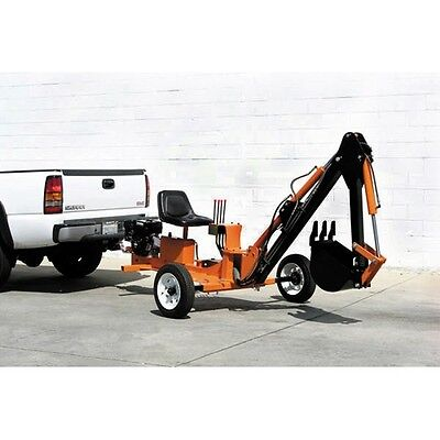 Towable Ride On Trencher backhoe