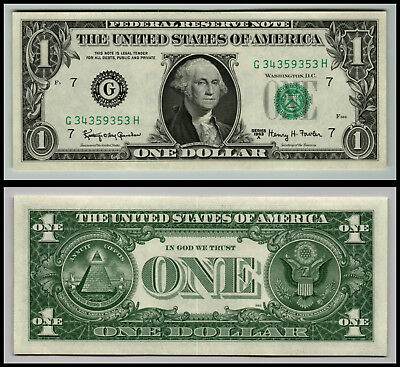 1963A  $1 Dollar Chicago Unc Federal Reserve Note Bill V141