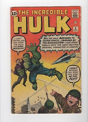 Incredible Hulk #3 4.5 (VG+) CR/OW pages