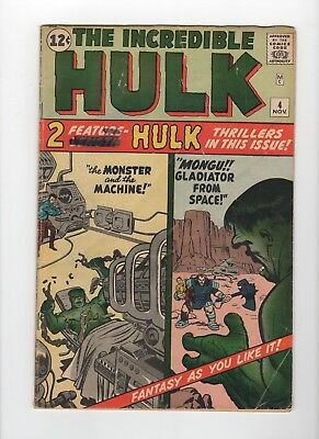 Incredible Hulk #4 4.0 (VG) OW pages - IRS Collection