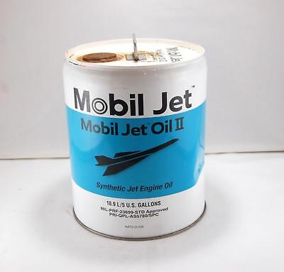 Empty Exxon Mobil Synthetic Jet Engine Oil II 5 Gallon Display Can (C)