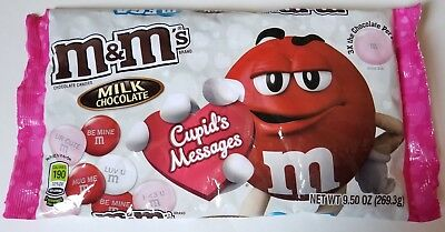 NEW Valentine's MEGA M&M's Chocolate + Cupid's Messages FREE WORLDWIDE SHIPPING