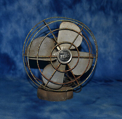 Vintage Bersted MFG Model 1250R Desk table Fan Has a loud wine Estate Find