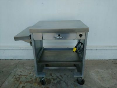 Servo lift 503-1r Cashier Stand Stainless Steel on Casters #1433