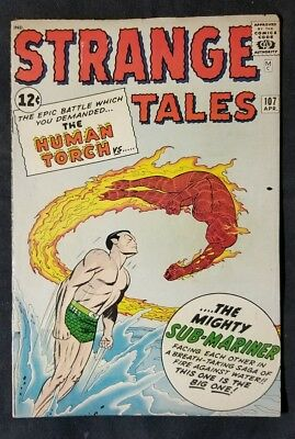 Strange Tales #107 (Apr 1963, Marvel) Human Torch/Sub-Mariner Battle