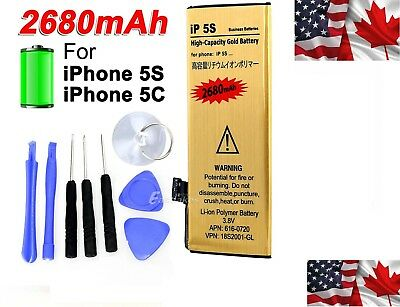 High Capacity Replacement Internal Battery for iPhone 5 5C 5S 5SE 6 6S 7 Plus
