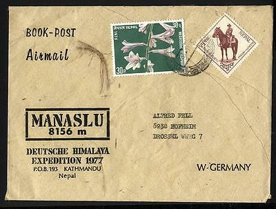 12708] NEPAL, Deutsche Himalaya Expedition 1977 MANASLU, Brief, cover