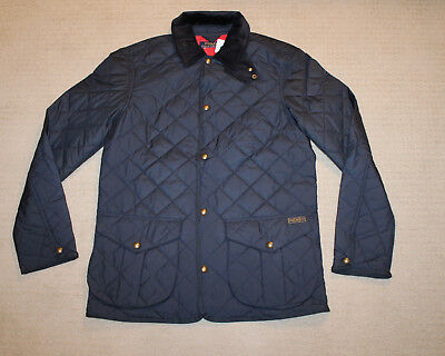 NEW Polo Ralph Lauren Diamond Quilted Patch Logo Blue Jacket XS S M L XL XXL