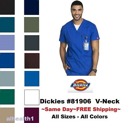 Dickies Scrub Top 81906 Mens EDS V-Neck Scrub Top Medical Uniform Free Shipping