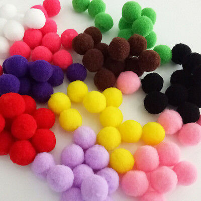 100/1000Pcs Mixed Pompon Plush Felt Ball DIY Toy for Crafting Sewing Clothing