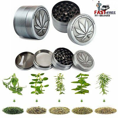 4Piece Magnetic Metal Tobacco Herb Grinder Crusher Spice Aluminum Grinding Fully