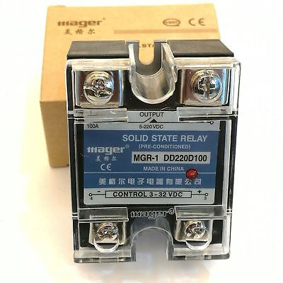 Mager Original Solid State Relay SSR 100Amp DC-DC MGR-1 DD220D100 1pc