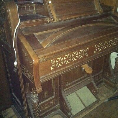 KIMBALL ANTIQUE  Walnut PARLOR Reed/ PUMP Organ 11 Stops Playing-Electrified!