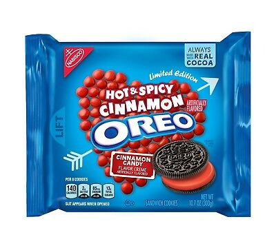NEW Nabisco Oreo Hot & Spicy Cinnamon Limited Edition Cookies FREE WORLD SHIPPIN