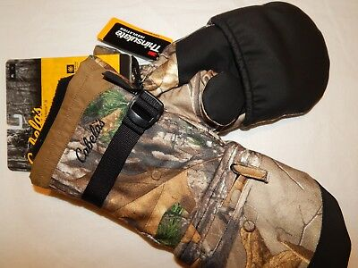 Cabelas S M L XL Glomitts Fingerless Gloves Mittens Camo Hunting MT050 Heavy