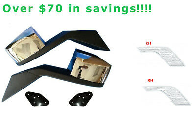 VOLVO VNL Hood mirror and Air Intake Grille chrome -6 pcs package -$75 savings!