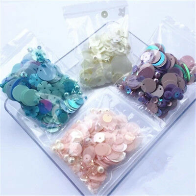 10g Sparkling Shimmer Mixed Sequins Bead Pearl Paillettes DIY Sewing  Dress Bag