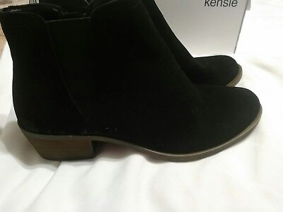 51c6c1cc45c KENSIE GARRY WOMENS Black Suede Ankle Boots Booties Size 6.5 ...