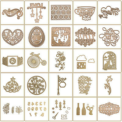 DIY Handmade Metal Stencil Cutting Die Embossing Scrapbooking Craft Album Decor