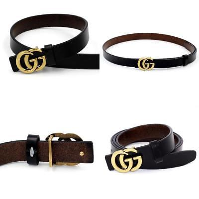 Genuine Thin Leather Belt For Jeans 0.9 Belt For Womens Pants GG Buckle Fashion