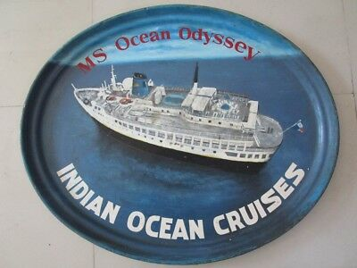 Vintage MS OCEAN ODYSSEY Plate / Plaque - 100% ORIGINAL - Made in USA (2188)