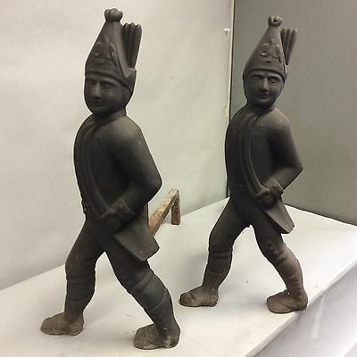 Pair Of Hessian Soldier Cast Andirons