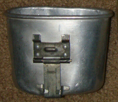 Canteen Cup, M1910, US Army WW2, Aluminum, double-dated 1944 & 1945