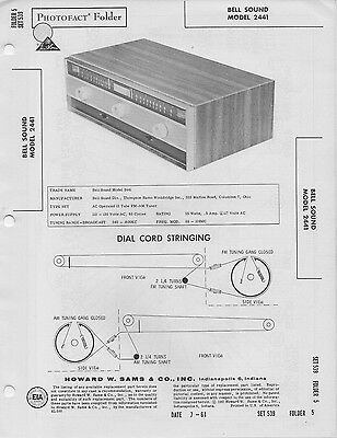 1958 THE FISHER 90-T 90T Am Fm Tuner Radio Service Manual