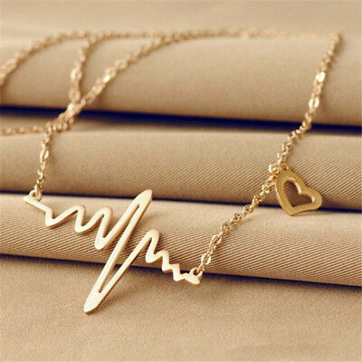 Women Girl Medical Doctor Nurse Heart Pendant Clavicle Chain Necklace Jewelry