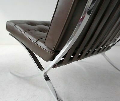 Mies Van Der Rohe Barcelona Sessel Knoll International Dunkelbraun