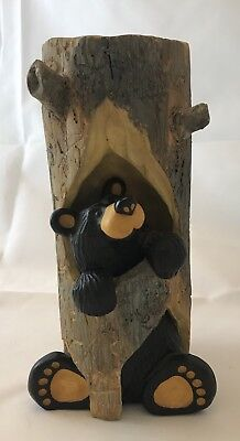 "Big Sky Carvers BearFoots ""Sparky"" Candle Holder Jeff Fleming's 101/2646"