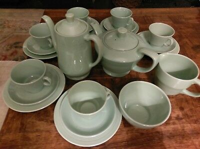 Retro Vintage Woods Beryl  full TEA AND COFFEE SET TRIOS CUPS TEA PLATES for 8