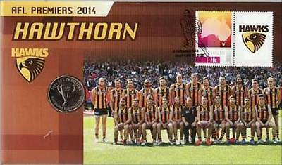 2014 Australian  PNC: 2014 Hawthorn Premiers AFL -  Coin and Stamp Pack