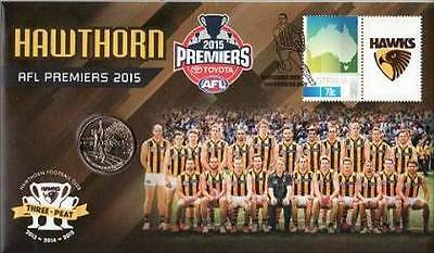 2015 Australian  PNC: 2014 Hawthorn Premiers AFL -  Coin and Stamp Pack