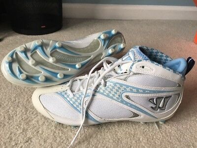 Warrior Burn 4.0 Carolina Blue Lacrosse Cleats Mens Size 13