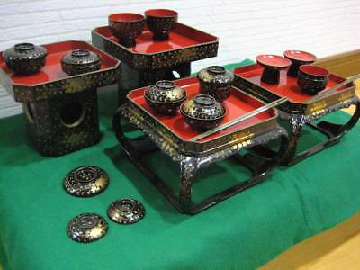 Japanese Antique Kyoto Miniature Bowl Lacquered Cover Boxed From Japan EMS F/S