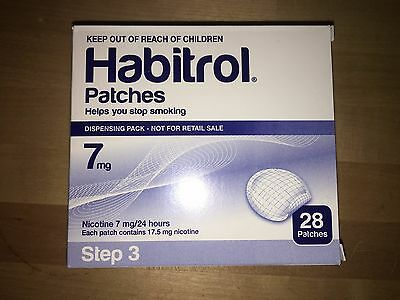 Step 3 Habitrol Transdermal Nicotine Patches 7mg 1 Box of 28 patches FRESH