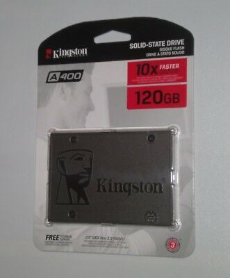 Interne SSD Festplatte Kingston A400 120GB 2,5 Zoll SATA III 6 GB/s Notebook TLC