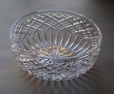 """Vintage Waterford 10"""" Round Center Piece Cut Crystal Glass Bowl"""